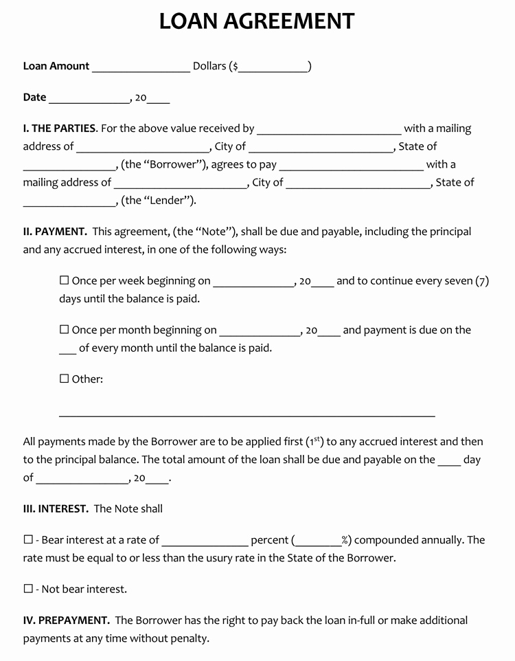 Personal Loan Agreement Template Awesome 45 Loan Agreement Templates & Samples Write Perfect