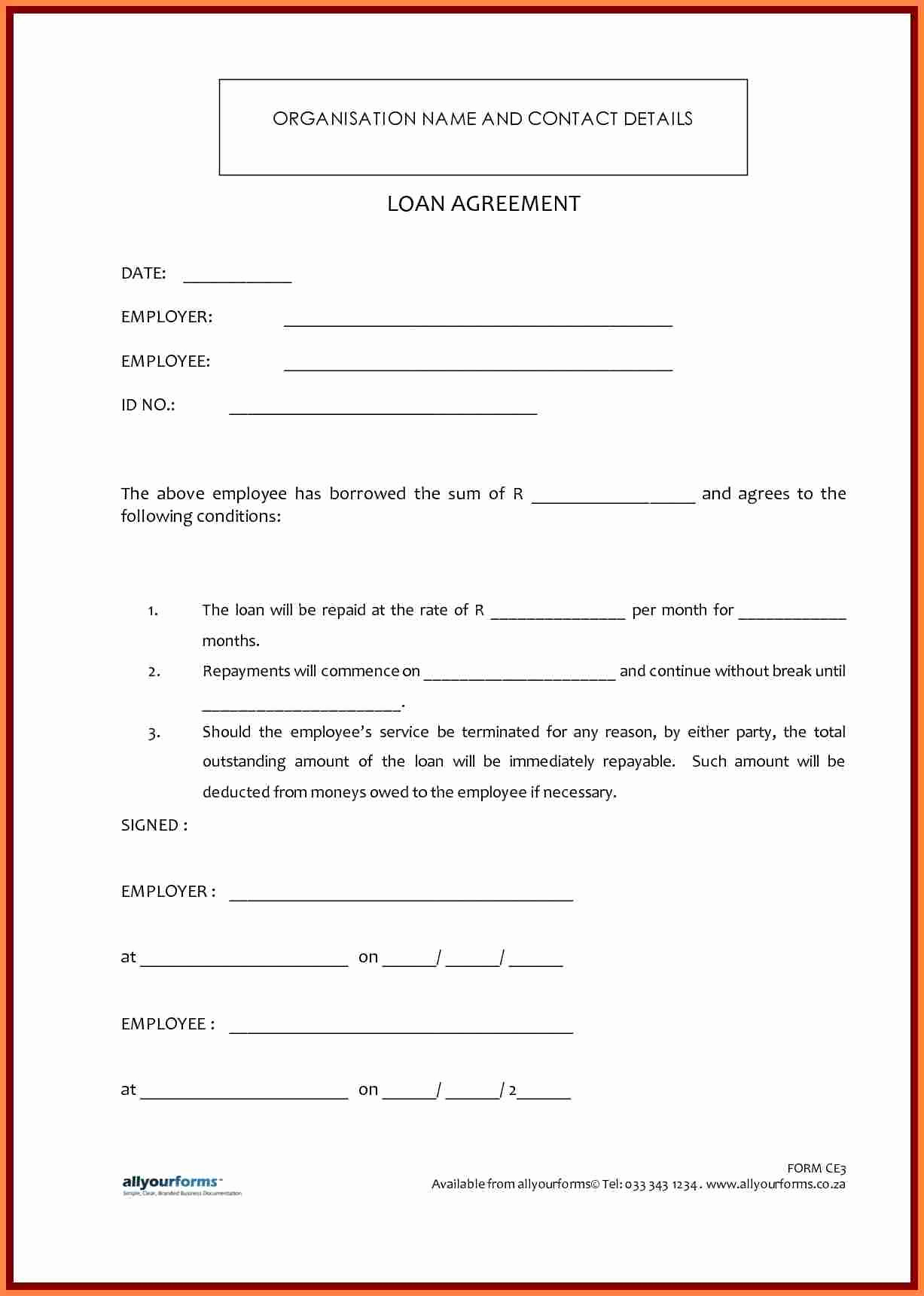 Personal Loan Agreement Template Elegant 7 Template Loan Agreement Between Family Members