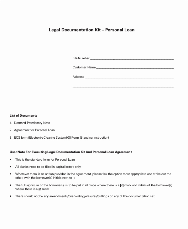 Personal Loan Agreement Template Elegant Loan Agreement Template 17 Free Word Pdf Document