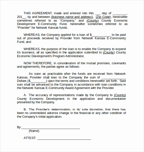 Personal Loan Agreement Template Inspirational Sample Personal Loan Agreement 6 Free Download Free