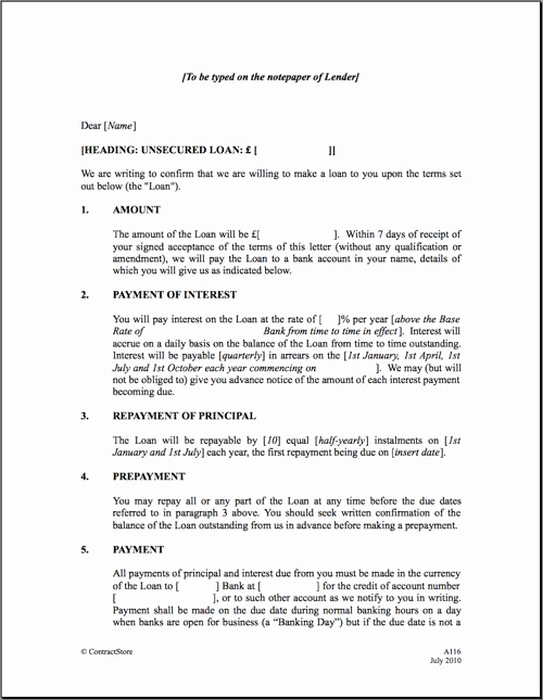 Personal Loan Agreement Template Luxury Personal Loan Repayment Letter Sample