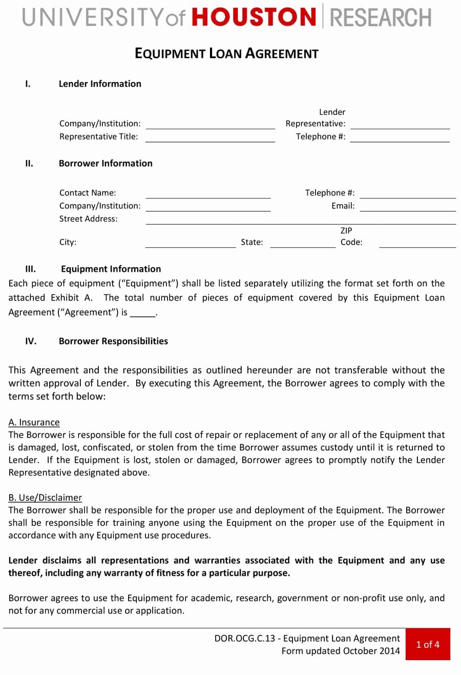 Personal Loan Agreement Template New 40 Free Loan Agreement Templates [word & Pdf] Template Lab
