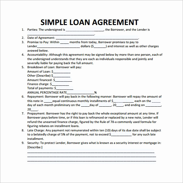Personal Loan Agreement Templates Lovely 27 Loan Contract Templates – Apple Pages Word Google