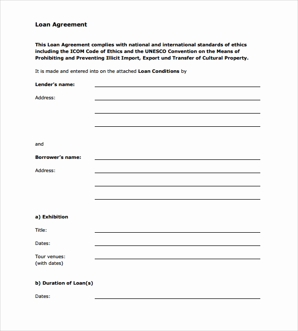 Personal Loan Agreement Templates Luxury Sample Loan Agreement 12 Free Documents Download In Pdf