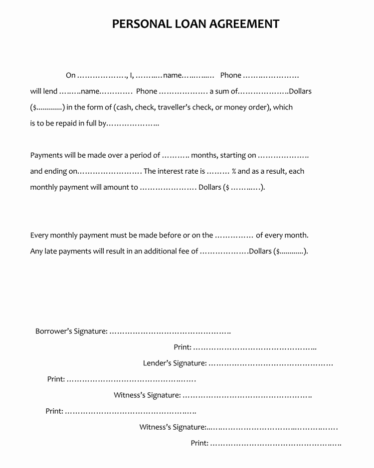 Personal Loan Contract Template Elegant 45 Loan Agreement Templates & Samples Write Perfect