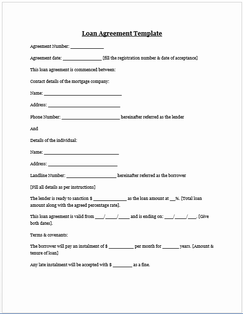 Personal Loan Contract Template Elegant Free Printable Personal Loan Agreement form Generic