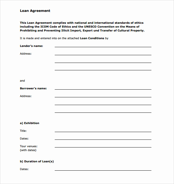 Personal Loan Contract Template New Sample Personal Loan Agreement 6 Free Download Free