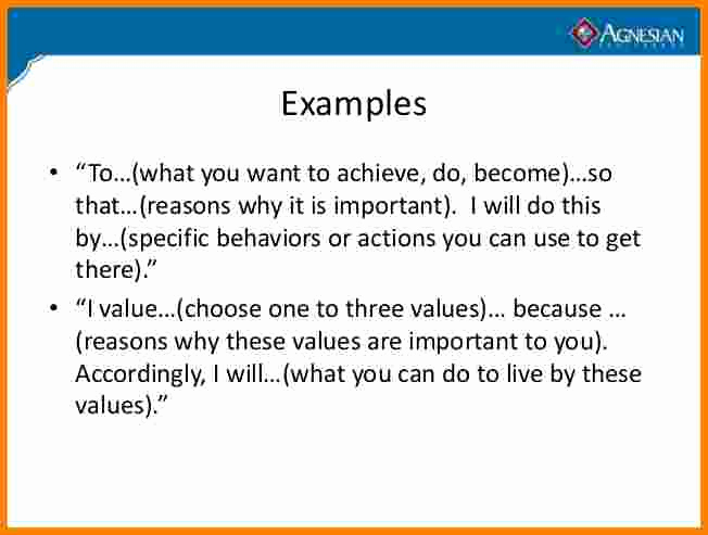 Personal Mission Statement Template Best Of 3 Personal Mission Statement Examples