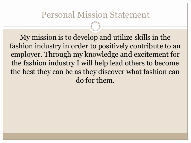 Personal Mission Statement Template Best Of Julia S Career Portfolio
