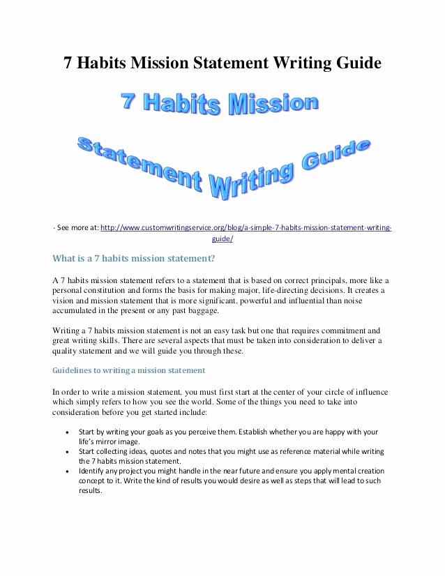 Personal Mission Statement Template Elegant 15 Examples Of Personal Mission Statements