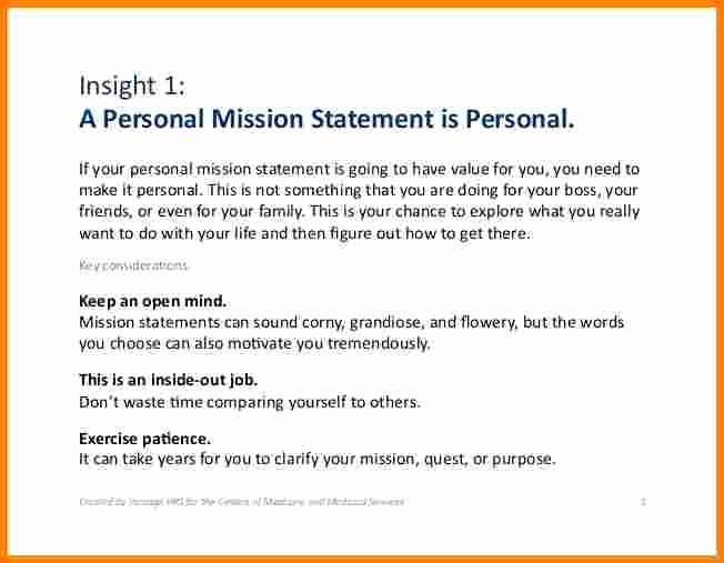 Personal Mission Statement Template Elegant 6 Sample Personal Mission Statement