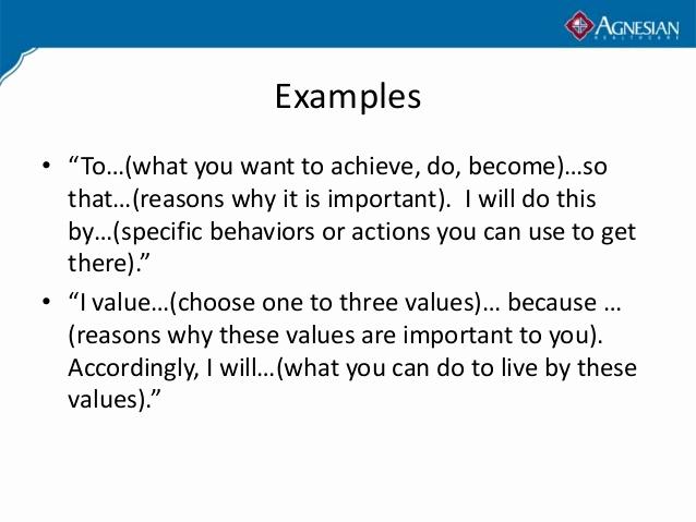 Personal Mission Statement Template Elegant Personal Mission Statement Examples Alisen Berde
