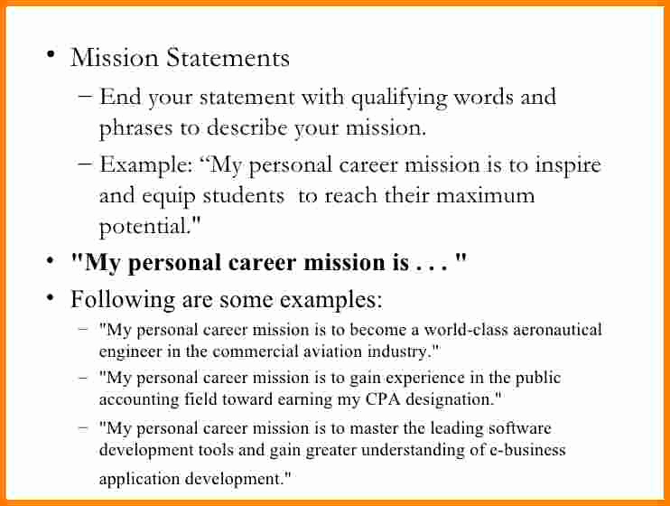 Personal Mission Statement Template Fresh 6 Personal Branding Statement Examples