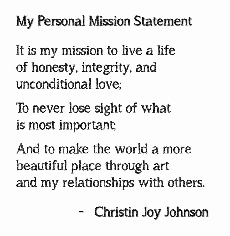 Personal Mission Statement Template Lovely Best 25 Mission Statements Ideas On Pinterest