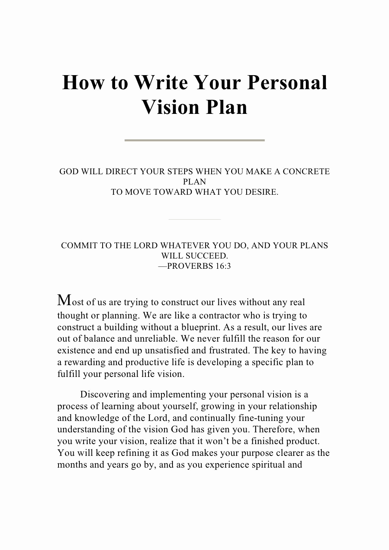 Personal Mission Statement Template Unique Writing Your Personal Vision Plan by Guest73de2ec Via