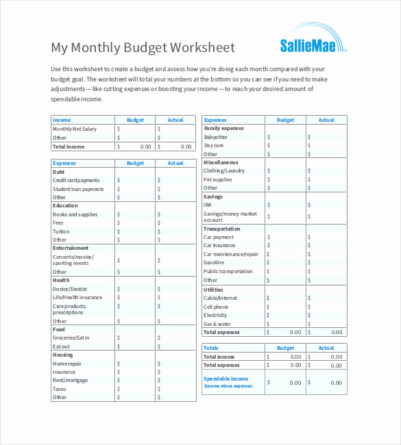 Personal Monthly Budget Template Luxury 12 Monthly Bud Templates Word Pdf Excel