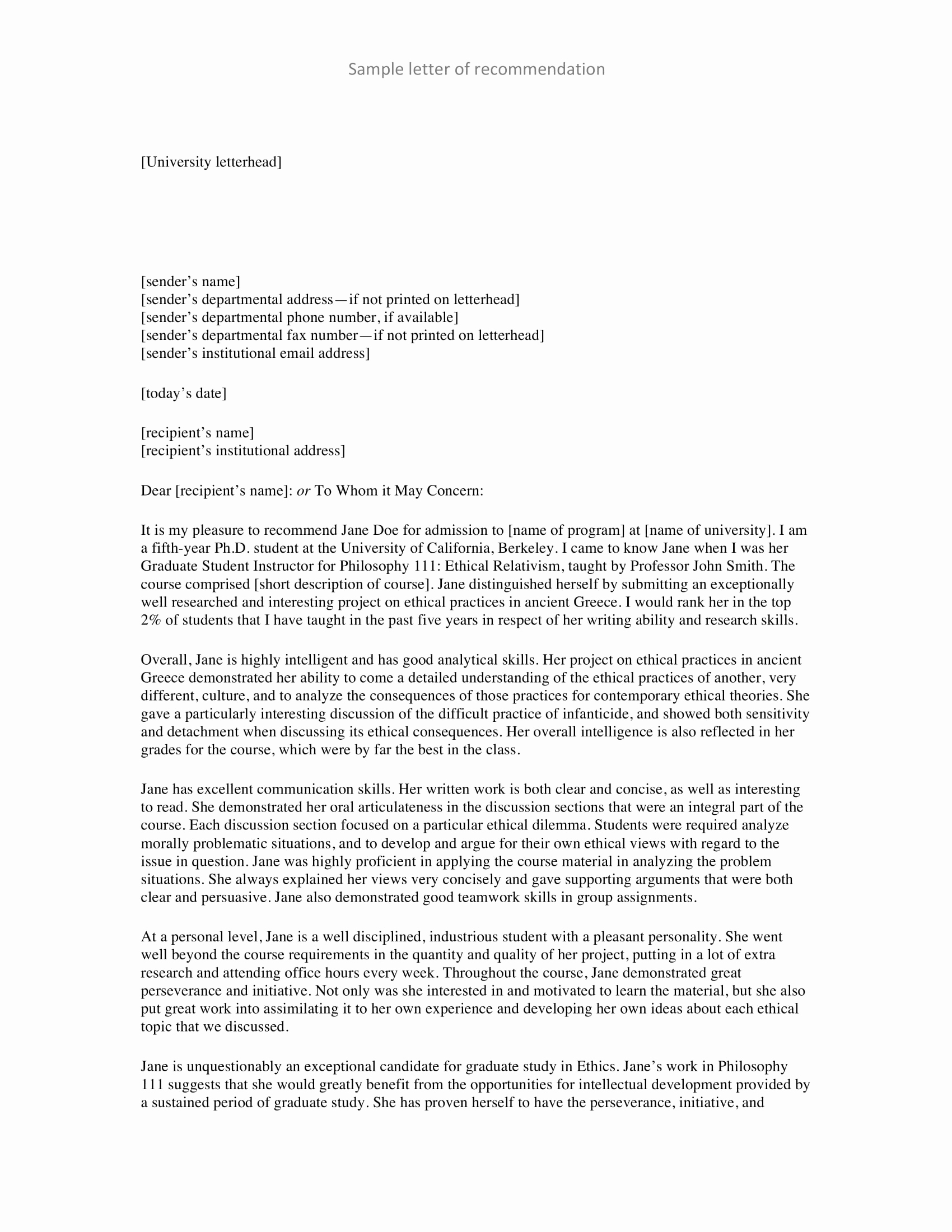 Personal Recommendation Letter Sample Awesome 10 Personal Re Mendation Letter Examples Pdf Word