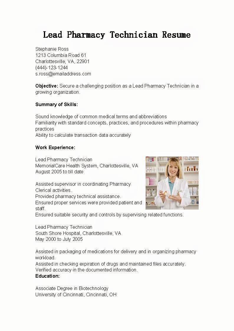 Pharmacy Tech Resume Samples New Resume Samples Lead Pharmacy Technician Resume Sample