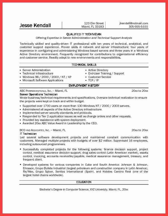 Pharmacy Technician Resume Sample Fresh Pharmacy Technician Resume