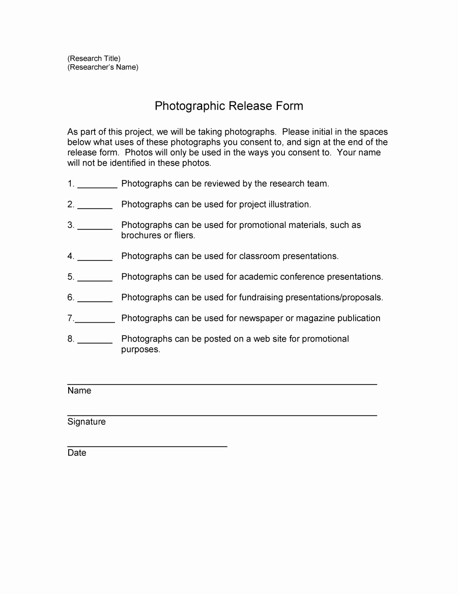 Photo Release form Pdf Awesome 53 Free Release form Templates [word Pdf]