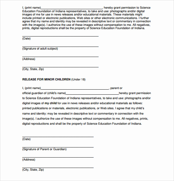 Photo Release form Pdf Beautiful 7 Print Release forms Pdf