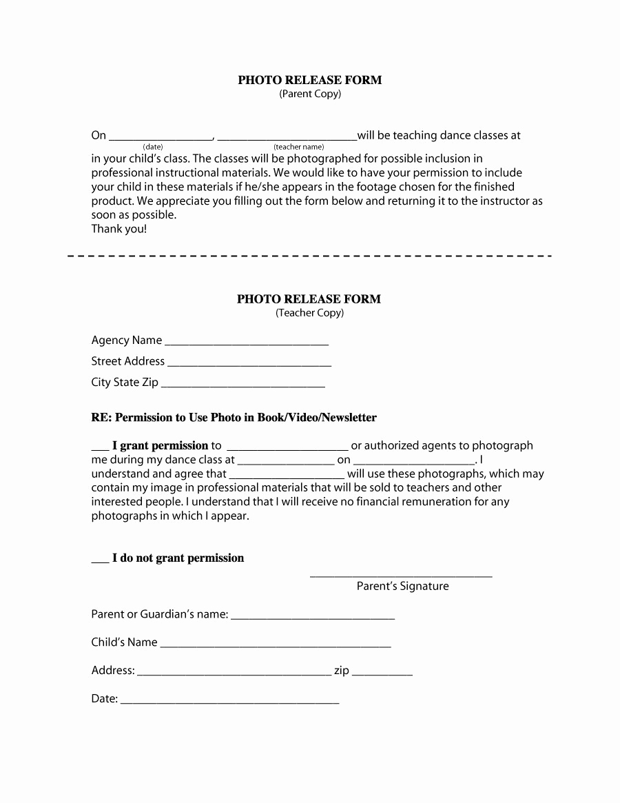 Photo Release form Pdf Elegant 53 Free Release form Templates [word Pdf