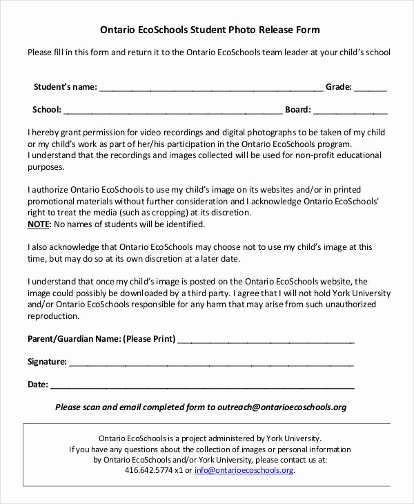Photo Release form Pdf Elegant Release form Template 9 Free Pdf Documents