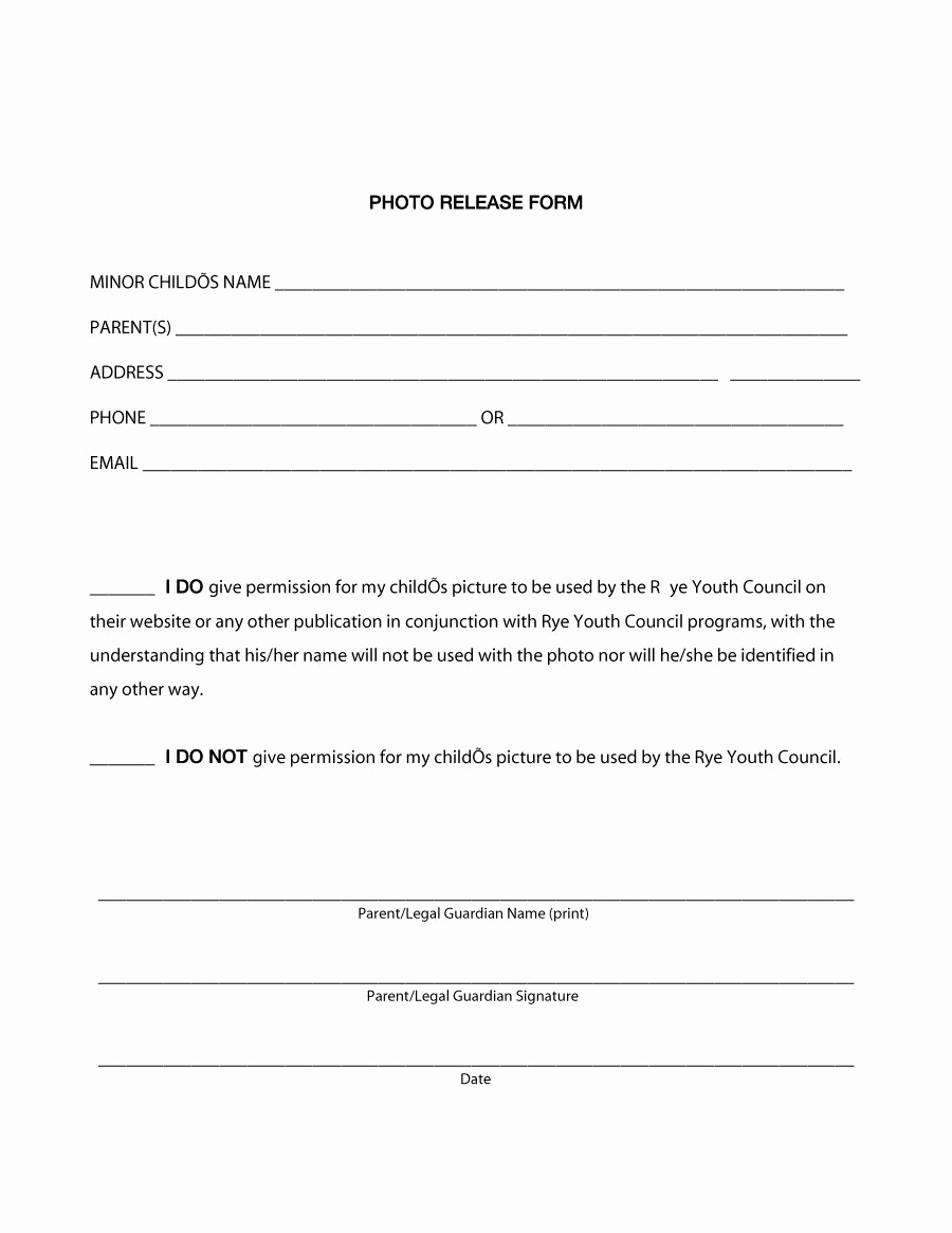 Photo Release form Pdf New 53 Free Release form Templates [word Pdf