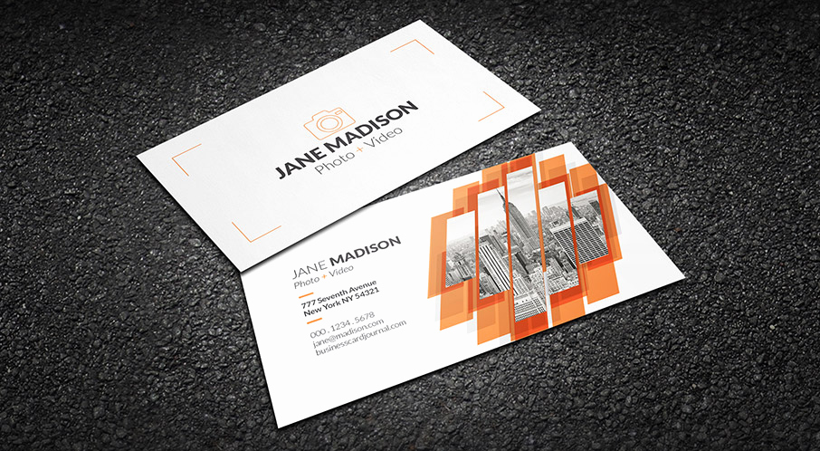 Photography Business Card Templates Lovely Free Cool Abstract Grapher Business Card Template