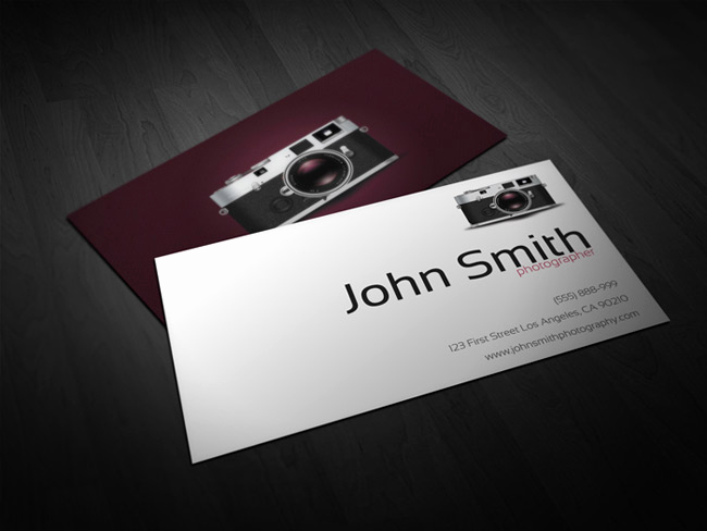 Photography Business Card Templates Luxury Deal Of the Week 40 Ready to Print Business Card