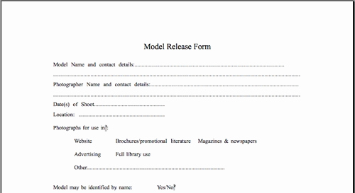 Photography Model Release form Awesome Model Release form Template