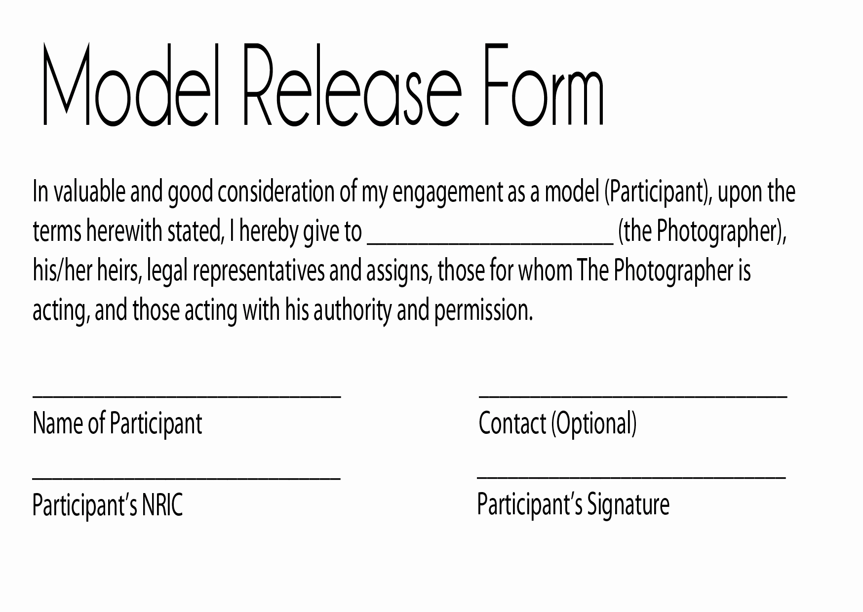 Photography Model Release form Fresh Model Release Glamour Graphy by Jay Kilgoreglamour