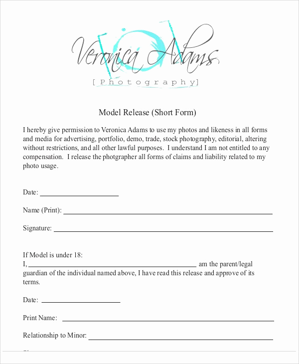 Photography Model Release form Inspirational Grapher Release forms