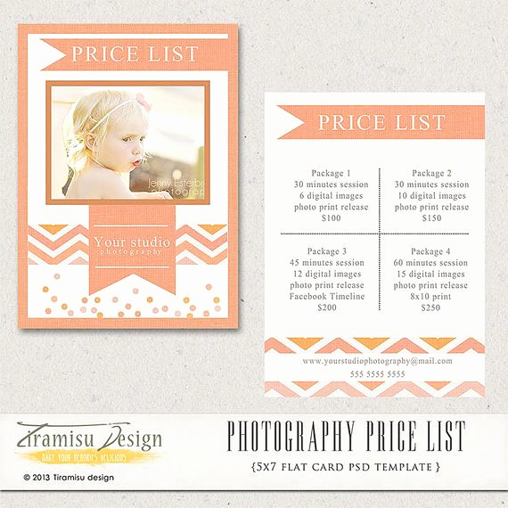 Photography Price List Template Awesome Graphy Price List Graphy Pricing Guide Price