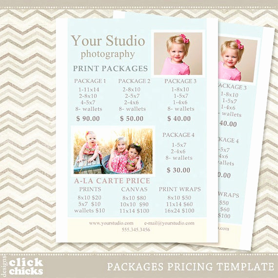 Photography Price List Template Awesome Graphy Print Package Pricing List Template Portrait