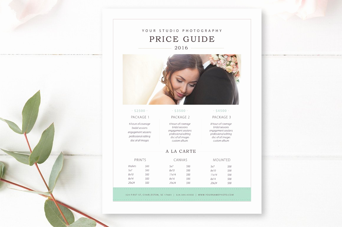 Photography Price List Template Best Of Graphy Price List Template Flyer Templates