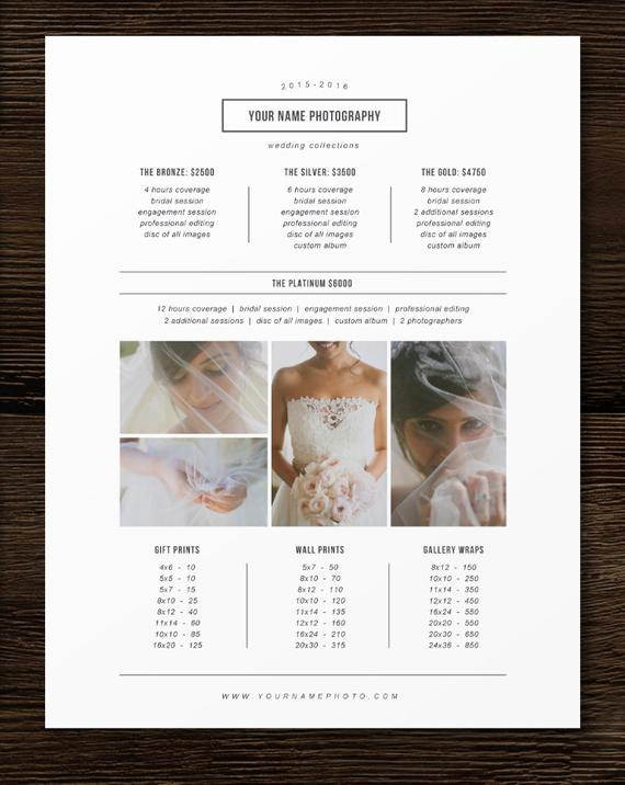 Photography Price List Template Best Of Graphy Pricing Template Price List Template