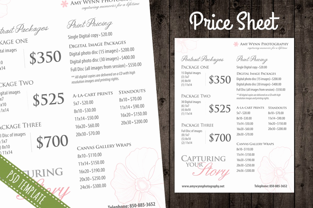 Photography Price List Template Best Of Modern Graphy Price List Template Deals