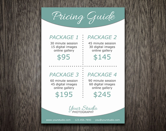 Photography Price List Template Elegant Modern Graphy Price List Template Deals