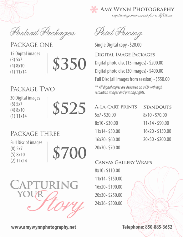 Photography Price List Template Inspirational 25 Price List Templates Doc Pdf Excel Psd