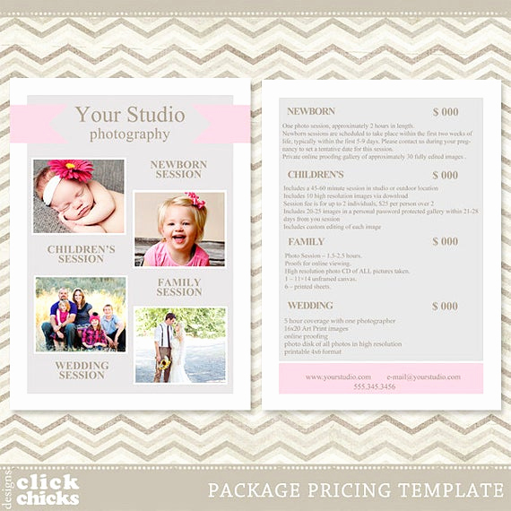 Photography Price List Template Inspirational Graphy Package Pricing List Template Price List Price