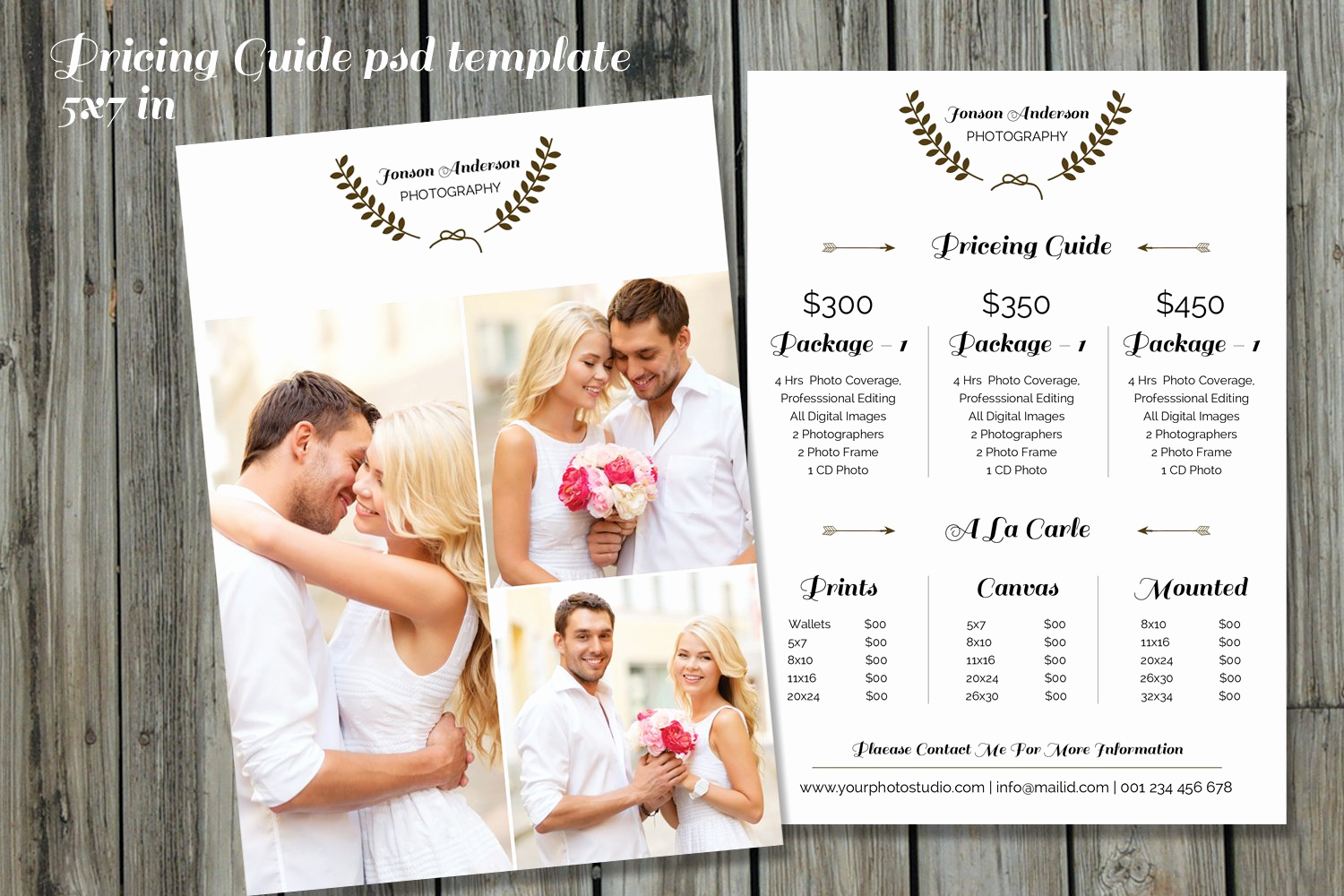 Photography Price List Template Inspirational Graphy Price List Template V234 Flyer Templates