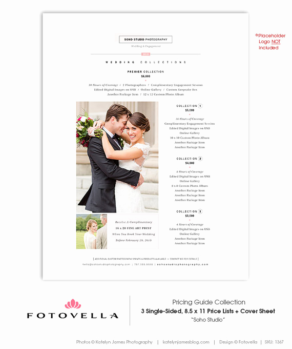 Photography Price List Template Lovely Modern Graphy Price List Template Deals
