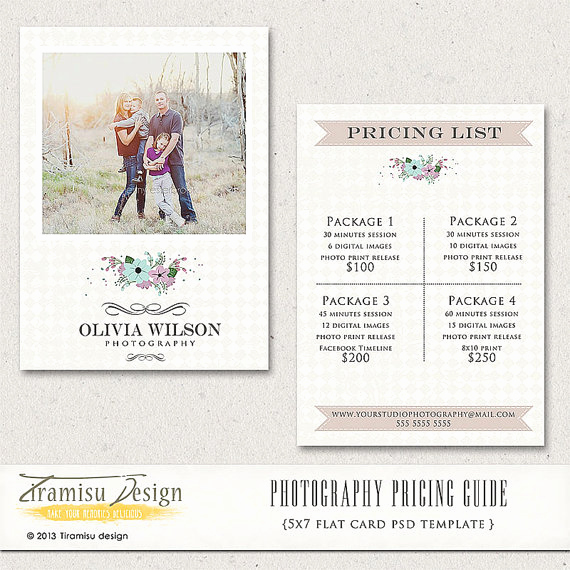 Photography Price List Template Luxury Christmas Mini Session Template Graphy Marketing