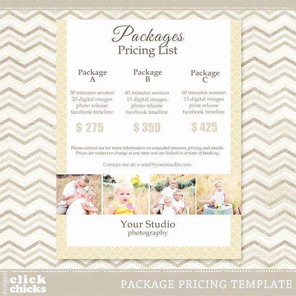 Photography Price List Template New Graphy Package Pricing List Template 008 C061