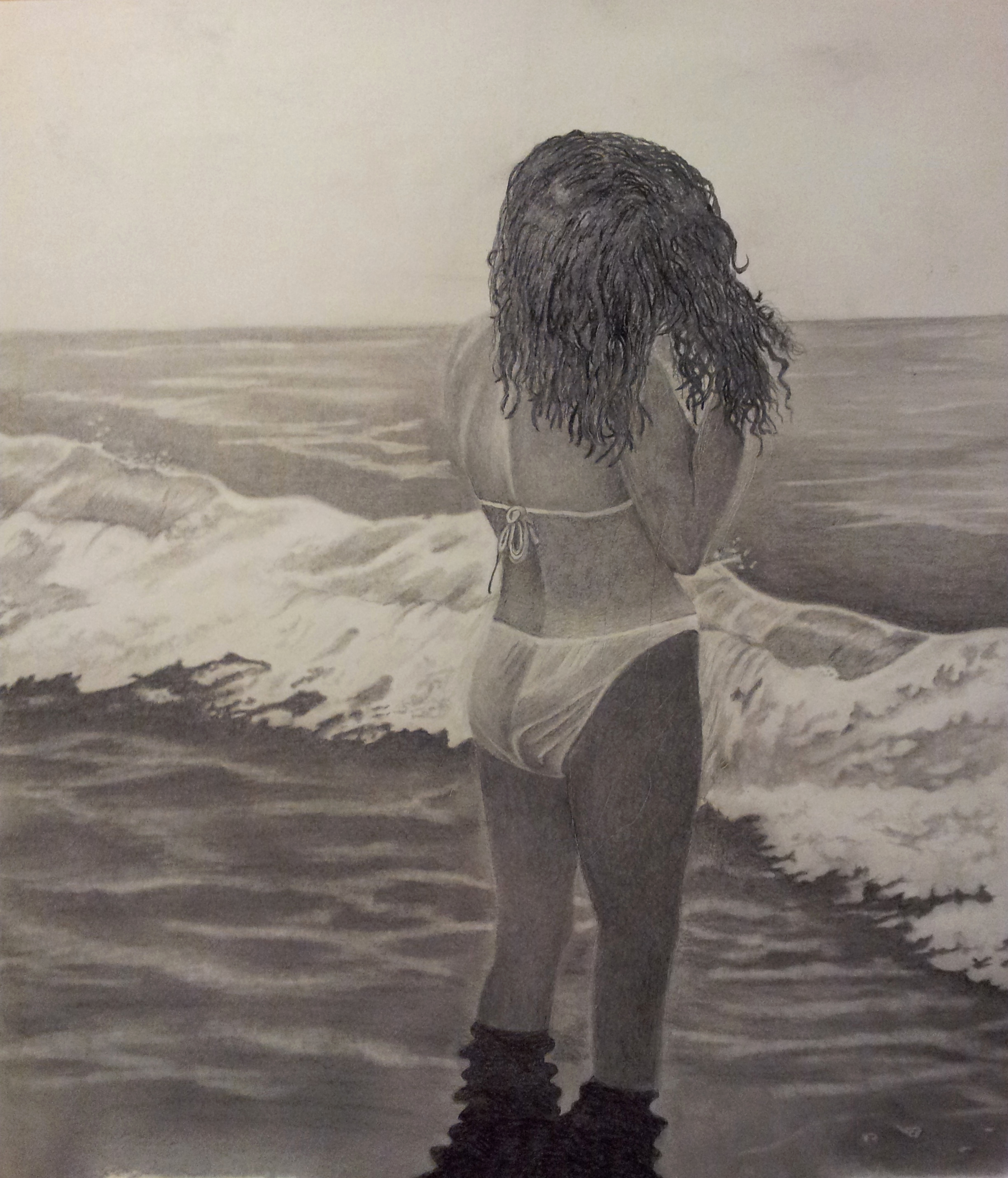 Photos to Pencil Sketches Lovely Walter Richter Artwork Watching the Waves E In