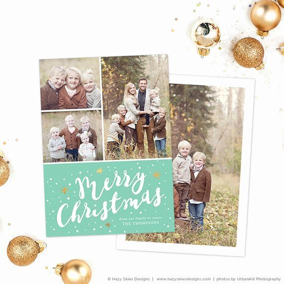 Photoshop Christmas Card Templates Awesome Items Similar to Christmas Card Template for Shop