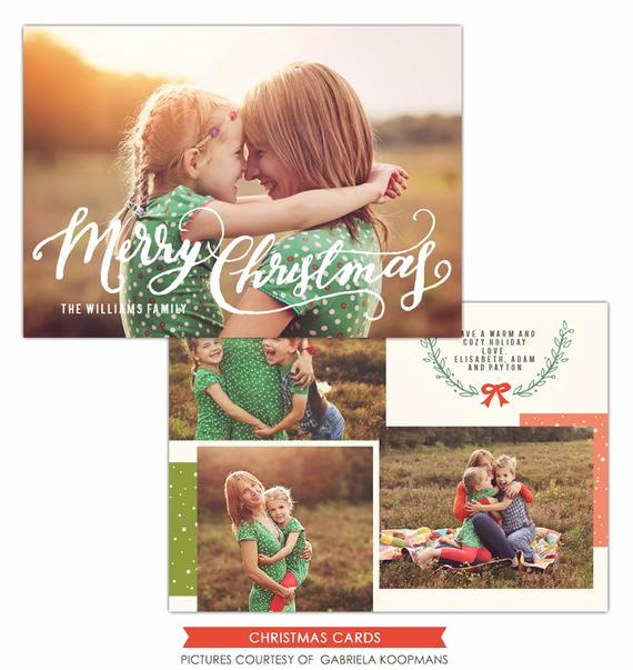 Photoshop Christmas Card Templates Beautiful Merry Christmas Card Shop Template Instant Download