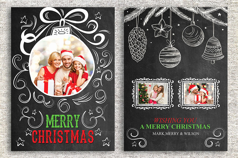 Photoshop Christmas Card Templates Best Of 18 Printable Christmas Thank You Card Templates Free
