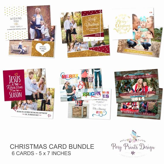 Photoshop Christmas Card Templates Elegant Christmas Card Bundle Of Shop Templates 5x7 Digital